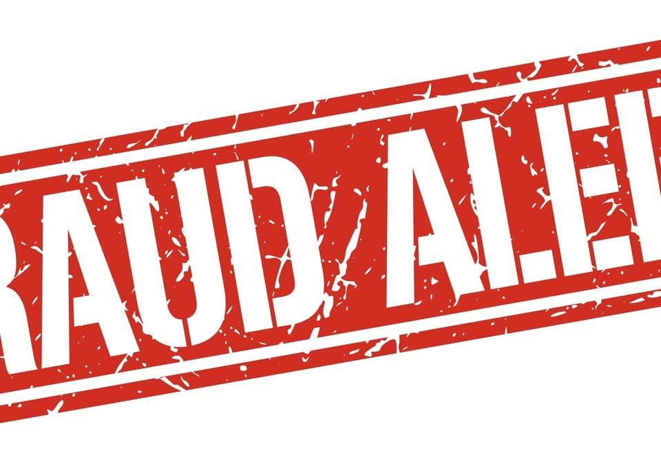 Impostor Syndrome background fraud alert stamp